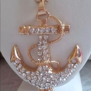 Betsey Johnson Anchor Pendant Necklace